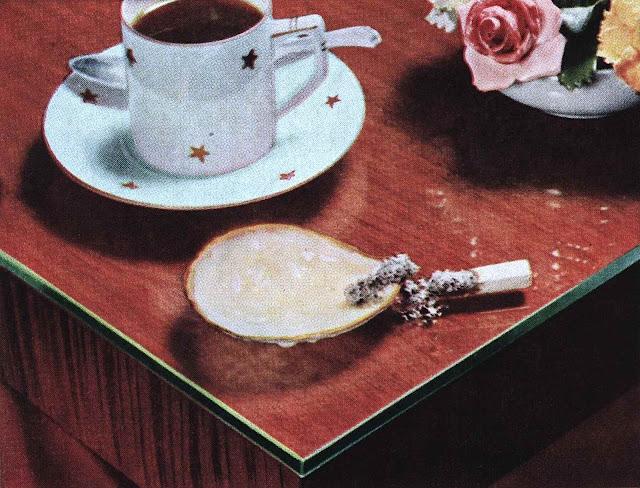 A 1940s photograph of a forgotten cigarette
