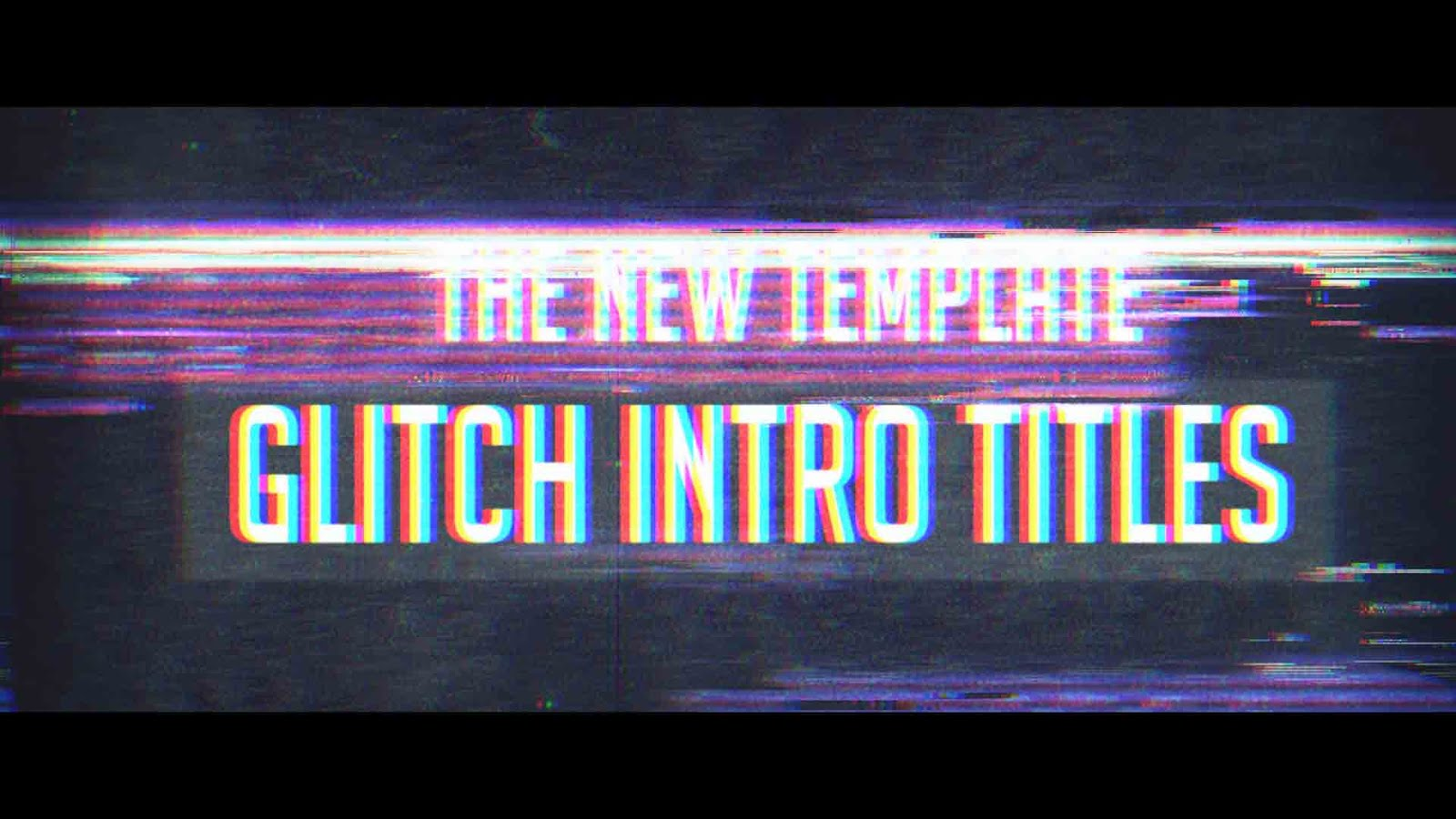 After Effects Template - Glitch Title Intro Free Download