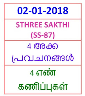 02-01-2018 4 NOS Predictions STHREE SAKTHI (SS-87)