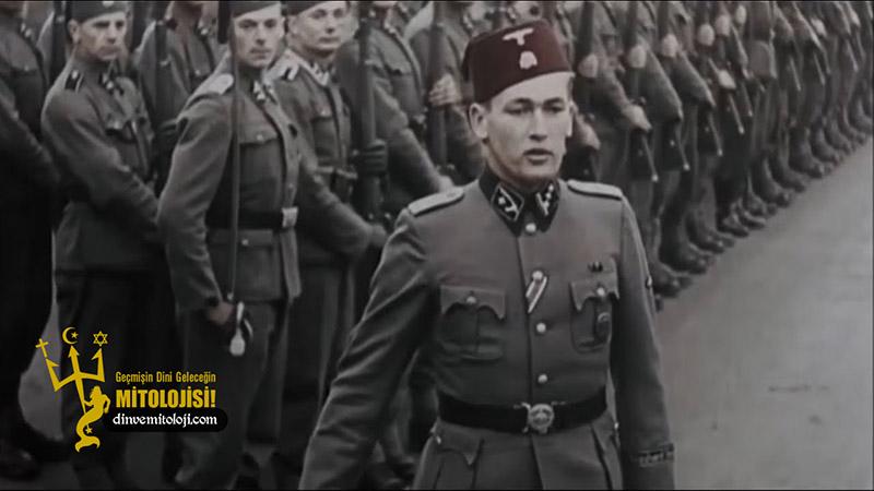 Adolf Hitler soykırım, Almanların yahudi katliamı, din, DP, El-Hüseyni, Hitlerle işbirliği, islamiyet, Müslüman naziler, Nazilere yardım eden, tarih, Yahudi katliamı ve Filistin, yahudilik,