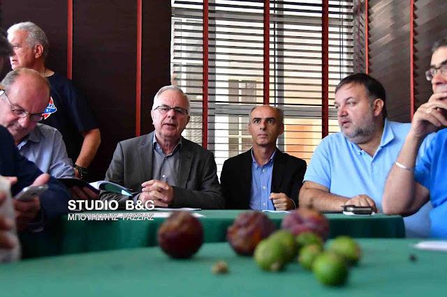 Σε εξέλιξη σύσκεψη του Υπουργού Αγροτικής Ανάπτυξης με παραγωγούς της Αργολίδας για τις καταστροφές από το χαλάζι