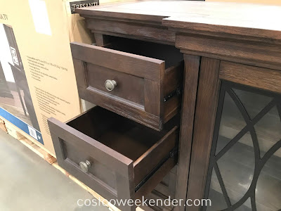 Costco 1119022 - Gregor Accent TV Console provides plenty of space for electronics and other components