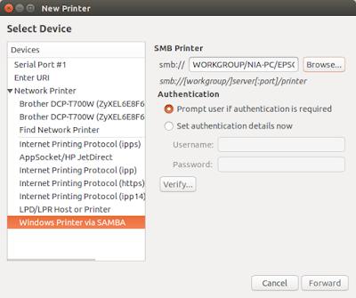 Add new printer - network
