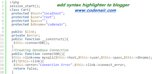 add syntax highlighter to blogger