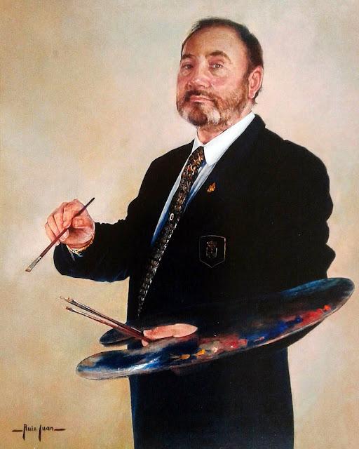 Juan José Campos Ruiz, Self Portrait, Portraits of Painters, Fine arts, José Campos Ruiz