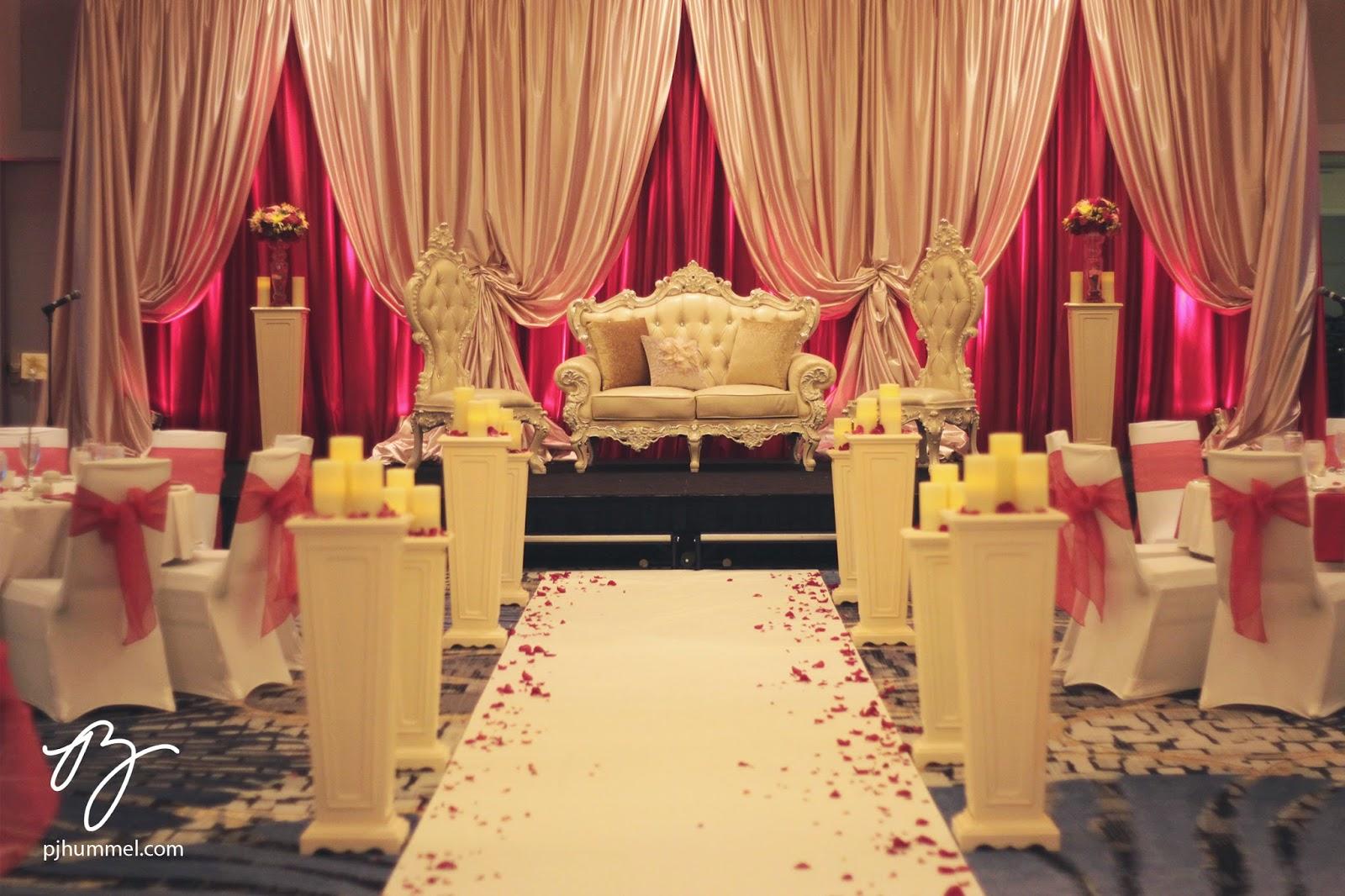 Pj Hummel And Company Inc Champagne Scarlet Shaadi Wedding Reception