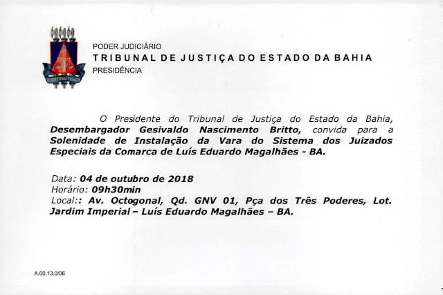 Prefeito Oziel Oliveira anuncia conquista e luta por novos avanços para o Poder Judiciário de Luís Eduardo Magalhães