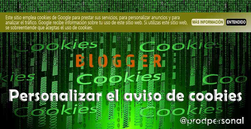 Modificar el aviso de cookies