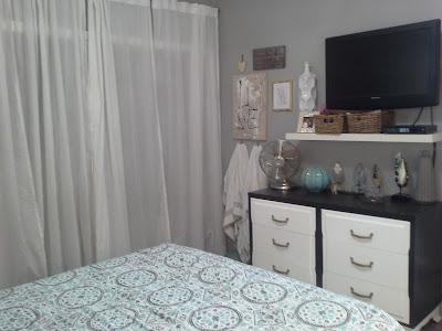 teal white stain mid century modern dresser