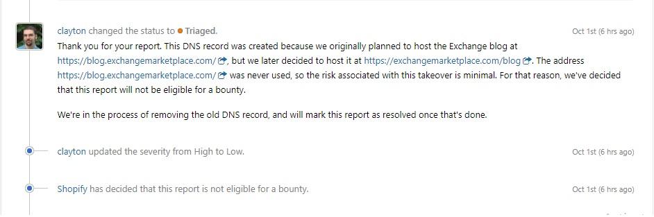 Subdomain Takeover via Shopify Vendor ( blog