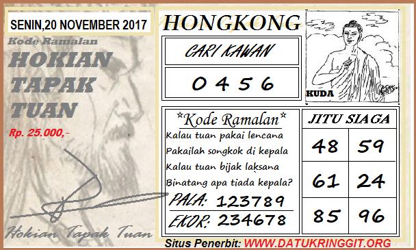 Syair HK Senin 20-11-2017 - Syair SGP HK
