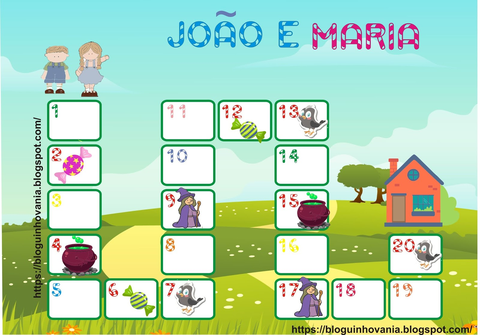 Bloguinho Da Vania Jogo De Trilha Joao E Maria