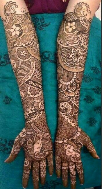 full hand wedding full hand bridal mehndi design