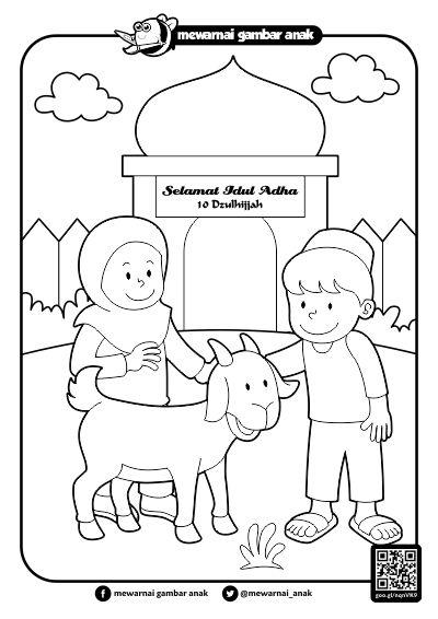 Mewarnai Gambar Anak Mewarnai Gambar Idul Adha