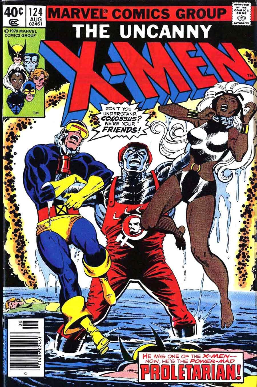 X-men v1 #124 marvel comic book cover art by John Byrne