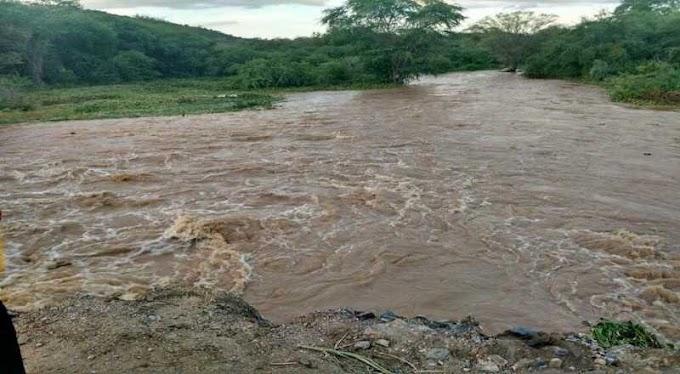 BARRAGENS: Chuvas no Cariri e Sertão aumentam volume de açudes de Boqueirão e Mãe D'água.
