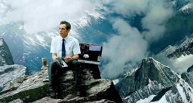 Ben Stiller într-unul din visele sale din filmul The Secret Life Of Walter Mitty
