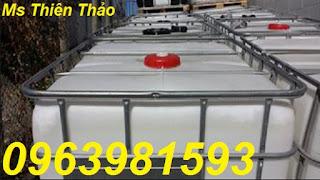 Thùng đựng hóa chất, thùng nhựa 1000l, tank nhựa 1000l giá rẻ