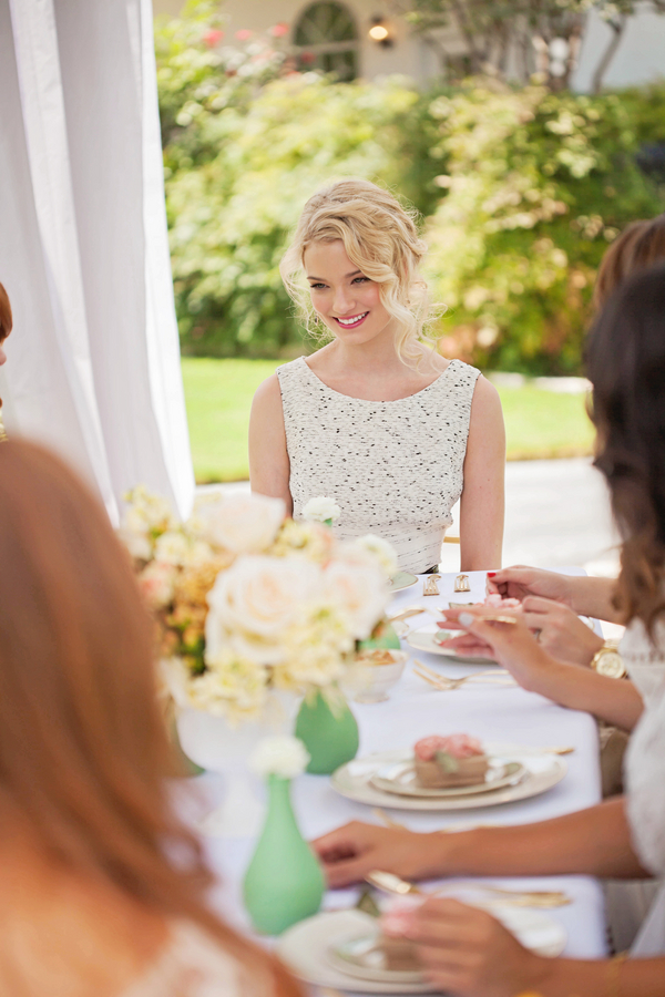 Antebellum bridal luncheon for Green spring gardens wedding