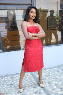 Mamatha sizzles in red Gown at Katrina Karina Madhyalo Kamal Haasan movie Launch event 093.JPG