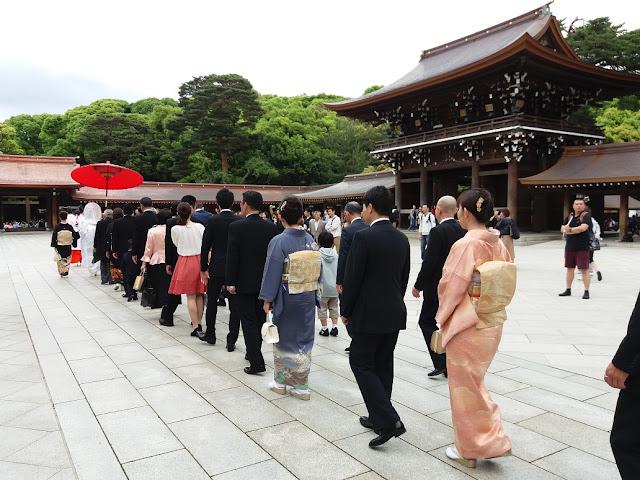 corteo nuziale tradizione a Meiji-jingū Tokyo