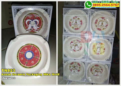 Asbak Melamin Packaging Mika Motif