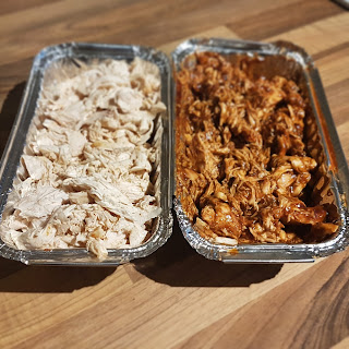 batch cook shredded chicken slimming
