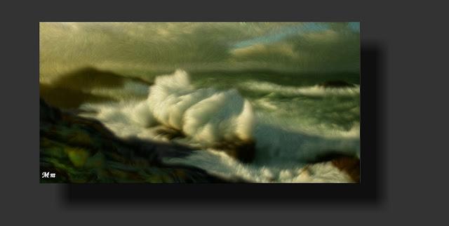 fotografía impresionista, arte digital, foto pintura, tecnica digital, temporales, olas