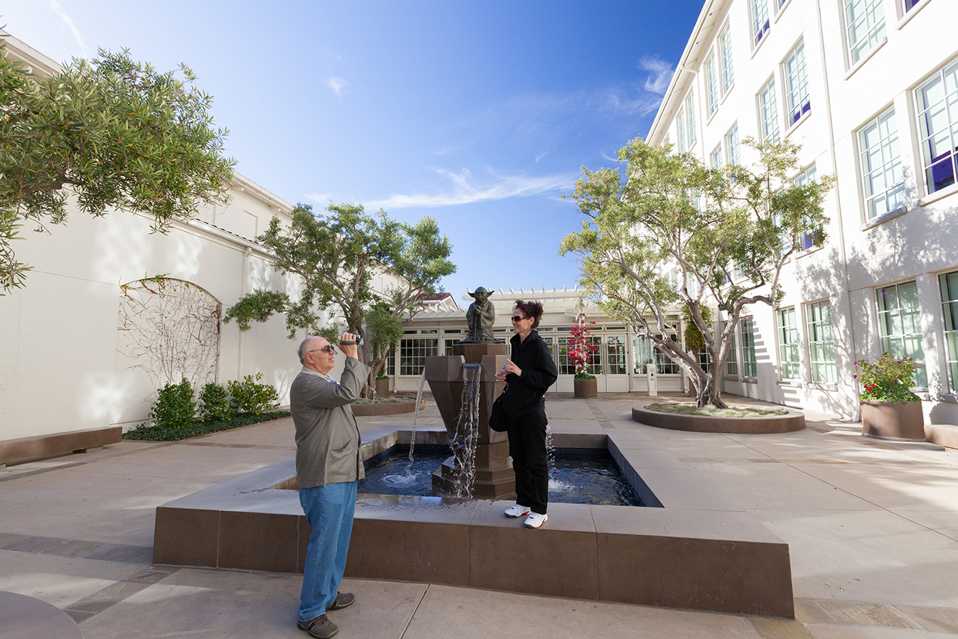 My parents with Yoda on the Lucasfilm Campus in San Francisco