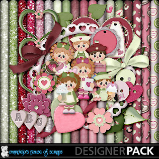 Creative Team for Marniejo's House of Scraps – Sweethearts ($2.00 Special) and Coordinating Freebie