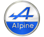 Logo Alpine marca de autos