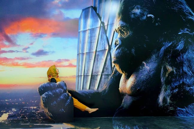 Gorila Raksasa di Wahana 3D Lampung Walk