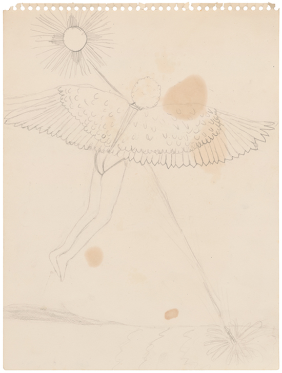 Robert Gober Icarus, 1967 Graphite on spiral-edged paper 31 x 23 cm