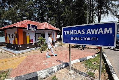 tandas awam di pantai puteri melaka