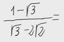 52.Racionalización (Con sumas o restas de raíces en denom.)