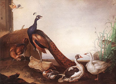 Peacock with Geese and Hen by Jakob Bogdani, 1658 - 1724, Museum of Fine Arts Budapest