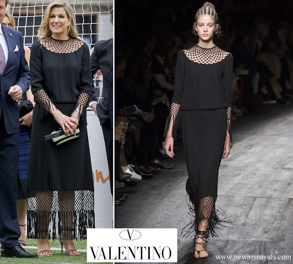 Queen Maxima wore Valentino dress from Spring 2016 Ready-to-Wear Collection