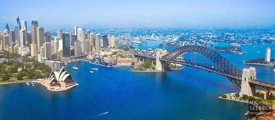 Sydney, hoa quanh lối về