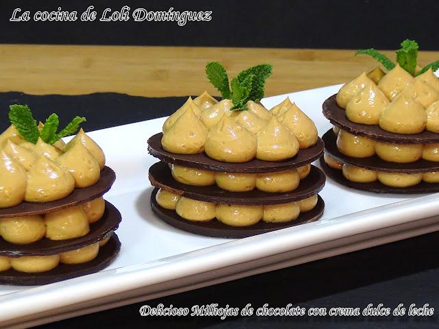 Delicioso Milhojas De Chocolate Con Crema Dulce De Leche (reto 3 Ingredientes)