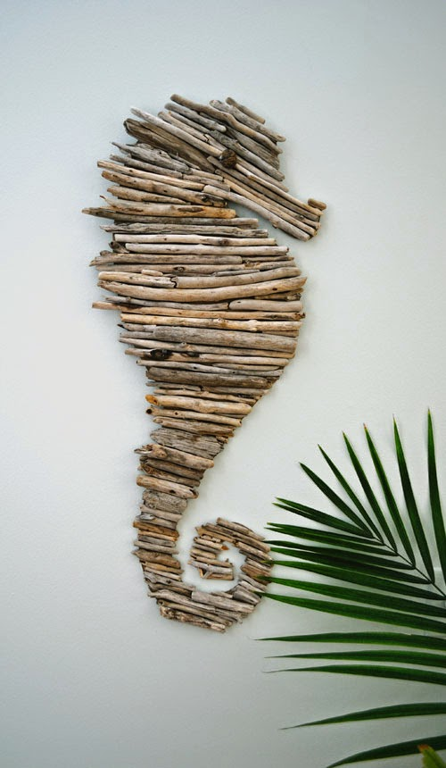 tutorial on how to make a driftwood sea horse