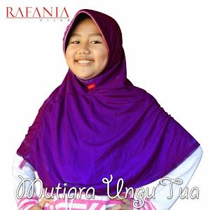 Rafania Hijab Model Mutiara Warna Ungu Tua
