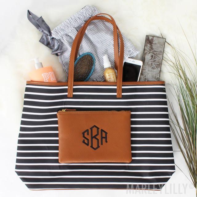 The Striped Overnight Tote Bag