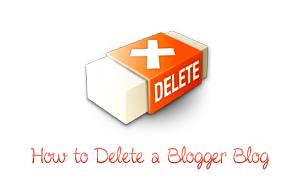 cara meng hapus blog pd blogspot