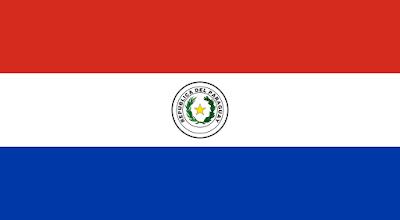 Logo Gambar Bendera Negara Paraguay PNG JPG ukuran 400 px