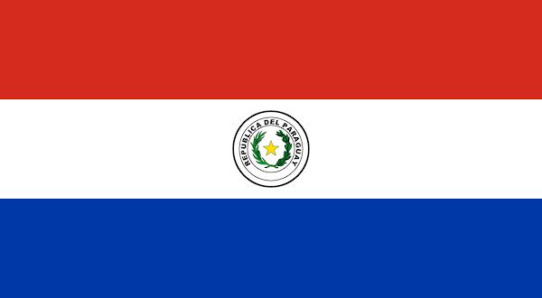 Logo Gambar Bendera Negara Paraguay PNG JPG ukuran 600 px