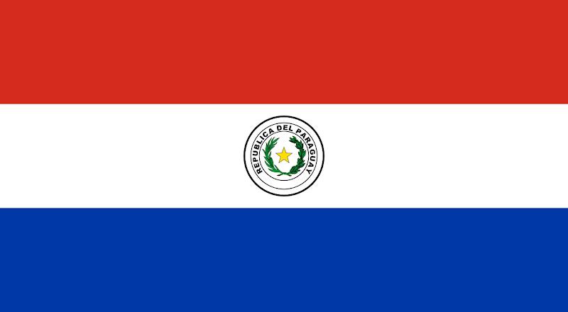 Logo Gambar Bendera Negara Paraguay PNG JPG ukuran 800 px