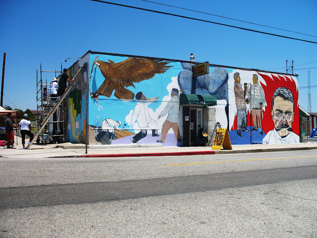 Mural Wilmington Ca El Mercadito - Year of Clean Water