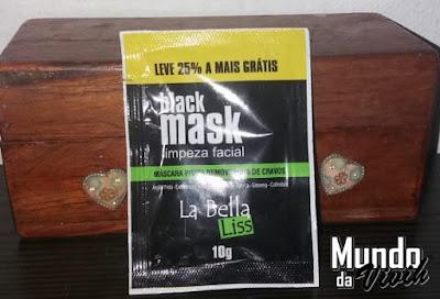 Black Mask Limpeza Facial- La Bella Liss - RESENHA