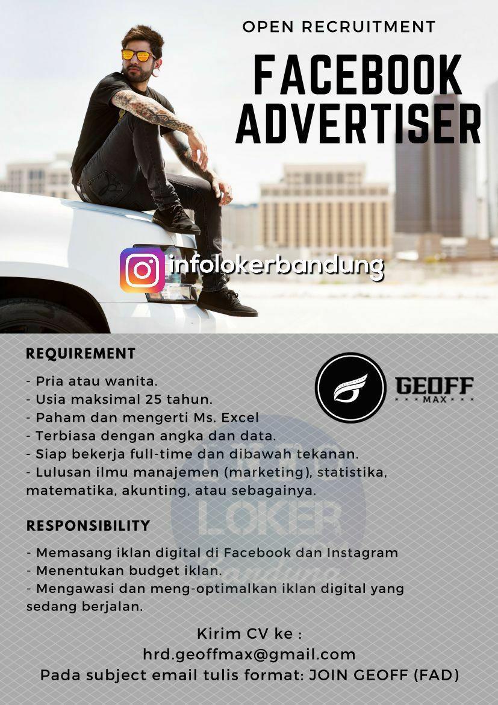 Lowongan Kerja Facebook Advertiser Geoof Max Footwear Bandung November 2017