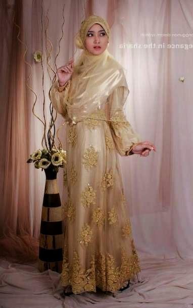 gaun pengantin muslim syar'i untuk pernikahan